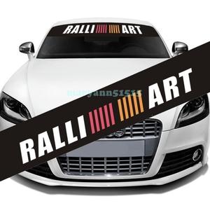 RALLIART large size sticker Ralliart Mitsubishi Mitsubishi window film bee maki decal Lancer Evo Evolution Pajero