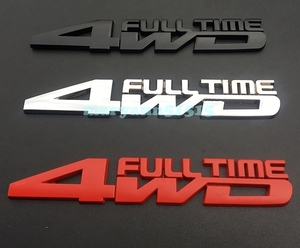 FULL TIME 4WD regular .. emblem full time all-purpose sticker AWD 4WD four wheel drive