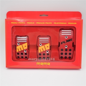 MOMO pedal cover set red all-purpose MT accelerator pedal clutch pedal brake pedal
