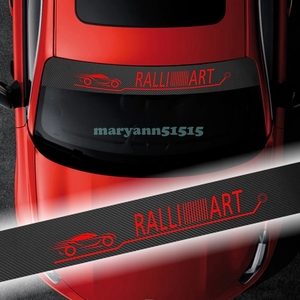 RALLIART carbon style large size sticker Ralliart Mitsubishi Mitsubishi window film bee maki decal Lancer Evolution