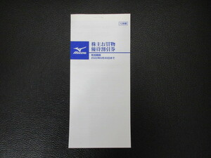 M32048☆MIZUNO ミズノ 株主 お買物優待割引券 10枚綴【有効期限:2022年6月30日迄】