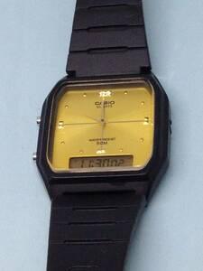 (G25)デジアナ(*'▽')カシオ・AW-48H・デジアナ(電池交換済み)ブラック・メンズ腕時計USED(送料全国一律198円)楽しめる時計です。