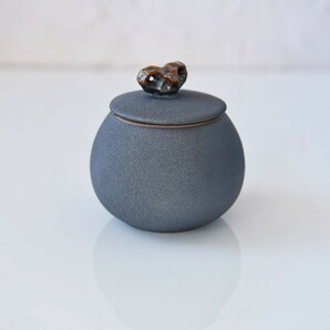 陶 ティーストレージコンテナ 茶缶 物入れ