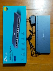 TP-Link 16ポート ハブ 10/100/1000Mbps ギガビット 金属筐体 TL-SG116
