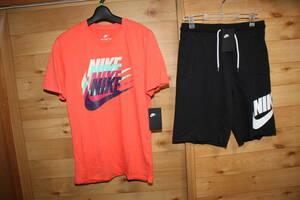 未使用ナイキNIKE メンズM 3連ロゴ半袖Tシャツ&ハーフパンツ 上下セット