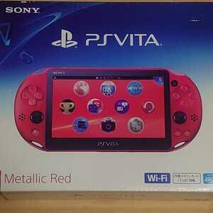 未使用 PSVita PCH-2000 メタリック レッド PlayStation Vita