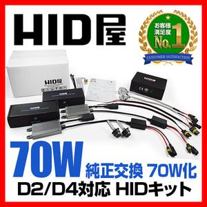 HID屋 70W D2R/D4R 純正HIDキット 6000K 8000K 12000K 選択可 送料無料 安心1年保証