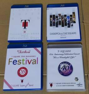 [4本組][送無] T-SQUARE LIVE Blu-ray 「CASIOPEA VS THE SQUARE + 2008 Tour + 35th + 40th Anniversary」 4本セット