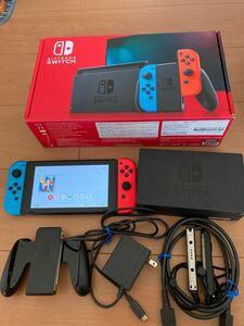 Nintendo Switch JOY-CON(L) ネオンブルー/(R) ネオンレッド 本体 中古品 動作確認済