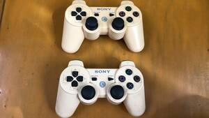 PS3 コントローラー DUALSHOCK3 純正 ホワイト PlayStation3 プレステ3 デュアルショック3 【動作未検品】