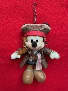 ディズニーリゾート ◆ ミッキー ぬいぐるみバッジ ぬいば ジョニー・デップ衣装 かっこいい/美品