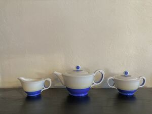 ◆Old Noritake◆オールドノリタケ◆ティーポットセット◆Art deco Tea Pot set ◆戦前アールデコ◆月桂樹マルキ印◆NIPPONTOKIKAISHA