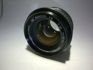 ☆特上級☆ ミノルタ MINOLTA MC ROKKOR-PG 50mm F1.4