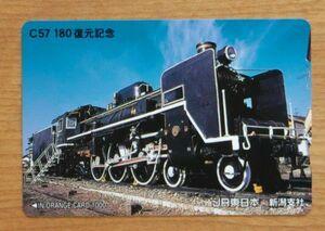 09 オレンジカード 使用済 C57 180 復元記念 JR東日本 新潟支社