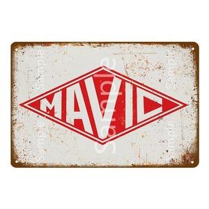 20×30ヴィンテージ金属看板 MAVIC マヴィック 自転車 ロードバイク クロスバイク MTB ピスト ガレージsmo35