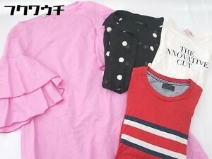 ◇ 《 ZARA ザラ まとめ売り4点セット サイズS&M&L Tシャツ カットソー ブラウス レディース 》 1107190004722