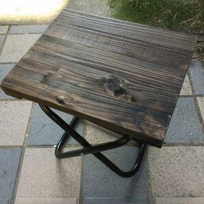 折り畳み椅子用天板 ミニテーブル 杉無垢材 トールペイント パーツ 塗装済み