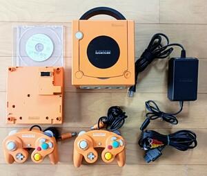 ゲームキューブ GAME CUBE オレンジ GC ゲームボーイプレイヤー スタートアップディスク付