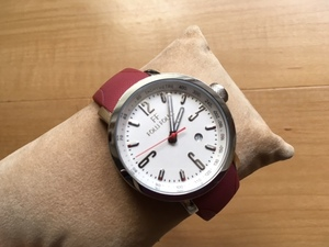 良品 FOLLI FOLLIE フォリフォリ デイト タキメーター シルバー WT6T011 純正ラバーベルト クオーツ ユニセックス 腕時計
