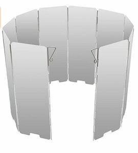 風除板 ウインドスクリーン 折り畳み式 防風板 アルミ製 軽量 収納袋 付き