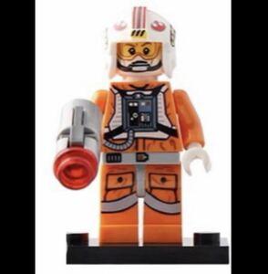 翌日発送 1 体 ルーク・スカイウォーカー パイロット スター・ウォーズ ミニフィグ ブロック LEGO レゴ 互換 ミニフィギュア v