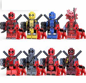 翌日発送 8体セット デッドプール マーベル アベンジャーズ ブロック ミニフィグ レゴ LEGO 互換 ミニフィギュア m134 v