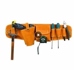N-112 牛革 道具袋 ウエストポーチベルト 収納ホルダー オーガナイザ 電気ドリル ドライバー ハードウェア ツールキット