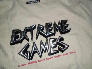 処分!¥100~かっこいいシルバーEXTREME GAMESロゴ 新品ジップアップ ジャケット/ジャンパー Lサイズ ベージュ LLサイズに近い