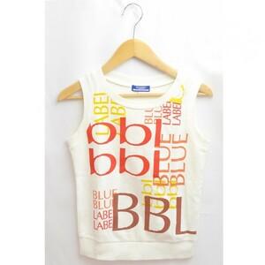 バーバリーブルーレーベル ノースリーブカットソー BURBERRY BLUE LABEL レディース ホワイト サイズ38