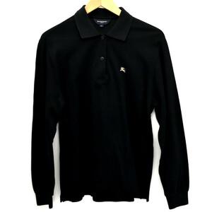 バーバリーゴルフ 長袖ポロシャツ メンズ ブラック サイズ:L BURBERRY GOLF