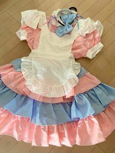 メイド服 コスプレ 衣装 アニメ キャラクター メイド キャンディ カラフル