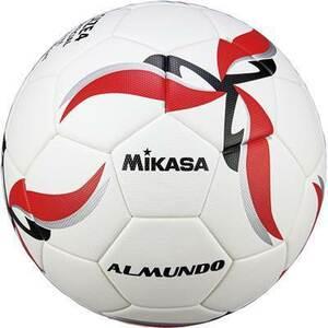 ◆MIKASAミカサ【ALMUNDO検定球4号貼り】F400KB-Rホワイト/レッド