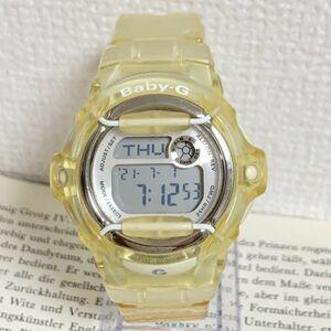 美品 ★ CASIO Baby-G 多機能 デジタル 腕時計 ★ カシオ ベイビージー BG-169R アラーム クロノ タイマー クリア 稼動品 F4827