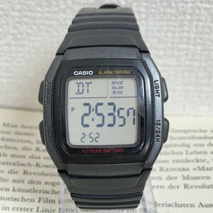 ★CASIO デジタル 多機能 腕時計 ★カシオ W-96H アラーム クロノ ブラック 稼動品 F4859