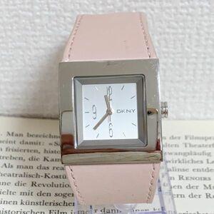 ★ DKNY ディーケーエヌワイ 腕時計 ★ダナキャラン 3針 シルバー レザーバンド 稼動品 F4925