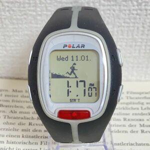 美品 ★POLAR デジタル 腕時計★ ポラール ブラック 稼動品 F4928