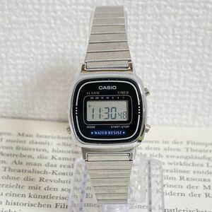 ★CASIO デジタル 多機能 腕時計 ★カシオ LA670W アラーム クロノ シルバー 稼動品 F5002