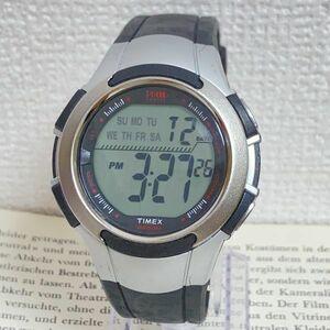 ★TIMEX 1440 sports 多機能 メンズ 腕時計★ タイメックス 1440 スポーツ アラーム クロノ タイマー シルバー 稼動品 F5114
