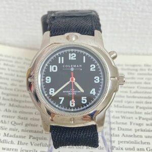 ★ COLEMAN メンズ 腕時計 ★ コールマン 3針 シルバー 稼動品 F5137
