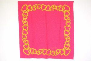 ティファニー 88cm 大判 スカーフ シルク100% オープンハート ネックレス チェーン Tロゴ ストール ショール ピンク 美 TIFFANY&Co. 5564k