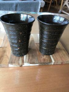 陶器 グラス 2点セット
