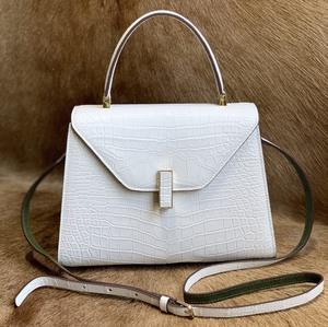 美品 クロコダイル ワニ革 ハンドバッグ トートバッグ レディース鞄 ゴールド金具 手提げ バッグ ショルダーバッグ 可愛い かばん 白