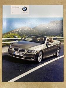 米国版 BMW 3シリーズコンパチブル(E93) カタログ 2009年モデル 左ハンドル英語表記