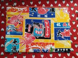 ポーチ 大漁旗柄 コスメポーチ ハンドメイド