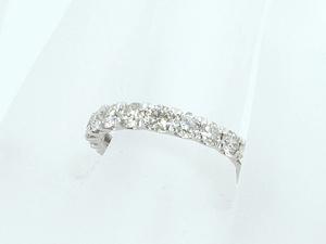 富士屋◆送料無料◆ダイヤモンド/1.00ct Pt900 ハーフエタニティ リング #10 プラチナ 仕上済