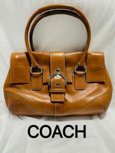 COACH トートバッグ ブラウン コーチハンドバッグ
