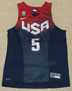 NIKE・ナイキ バスケット アメリカ代表 5 ケビン・デュラント オーセンティック・L サイズ(US サイズ)・新品
