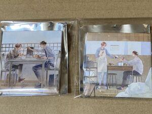 缶バッジ2種【オールドファッションカップケーキ】佐岸左岸【ステラマップカフェ】トレーディング【表紙絵/野末/外川】