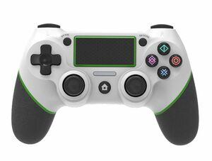 送料無料 PS4 ワイヤレスコントローラー ホワイト&グリーン USB付 PC パソコン対応 互換品