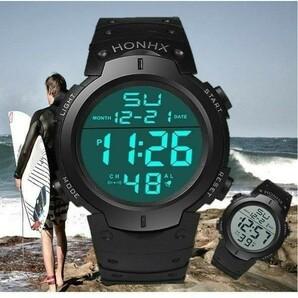 スポーツウォッチ 腕時計 HONHX 防水 ユニセックス スポーツ アウトドア
